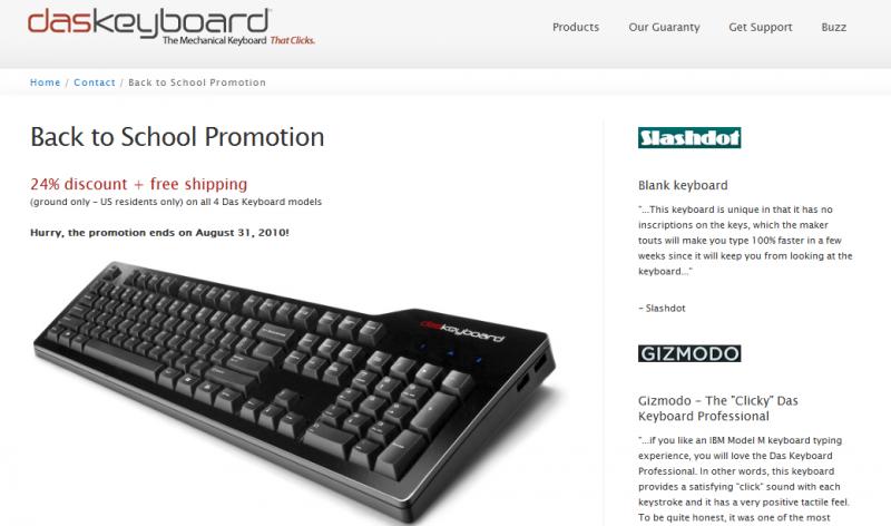 website page for Blog – Das Keyboard Blog