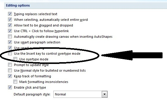 How to Enable the Insert Key in Microsoft Word – Das