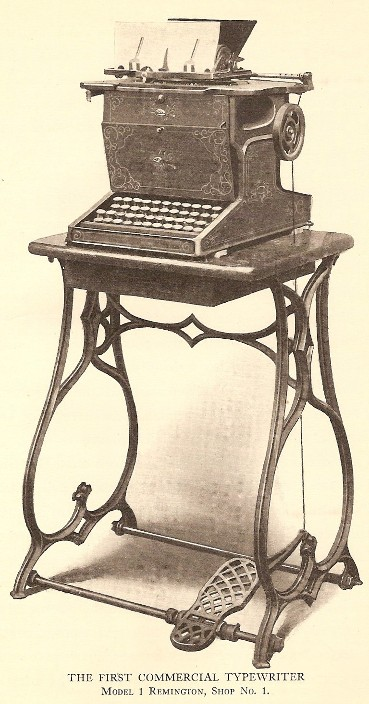 Remington's First Sholes & Glidden Type-Writer 1867