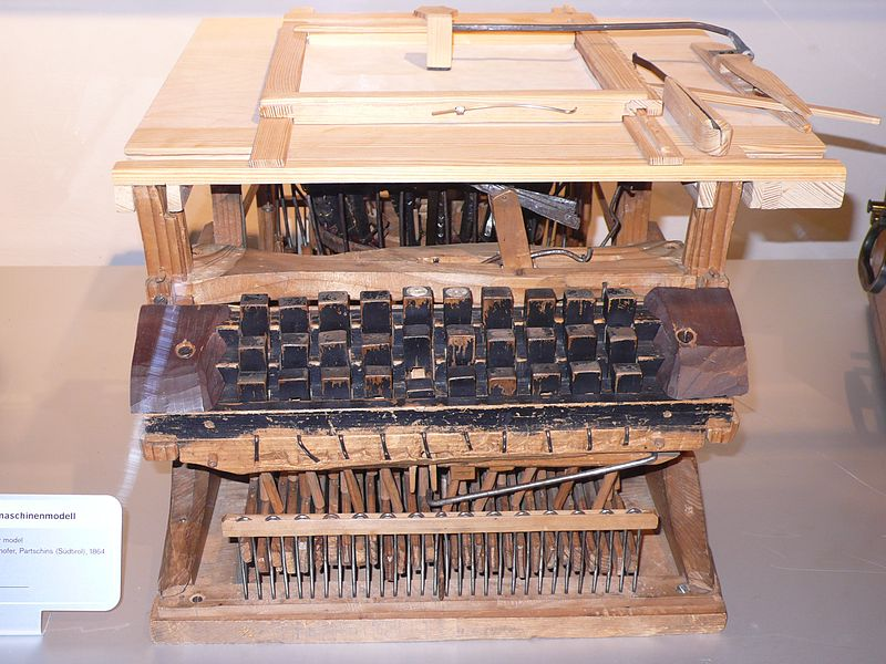 Reproduction of 1861 Father Francisco Jaâo de Azevado Typewriter
