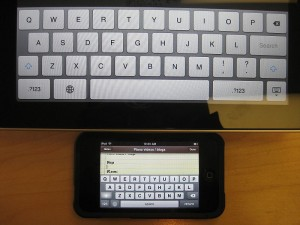 iPad and iPhone Virtual Keyboards