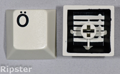 Injection molded keyboard key