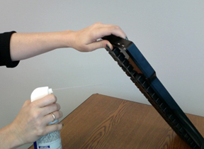 Spraying debris out of a Das Keyboard