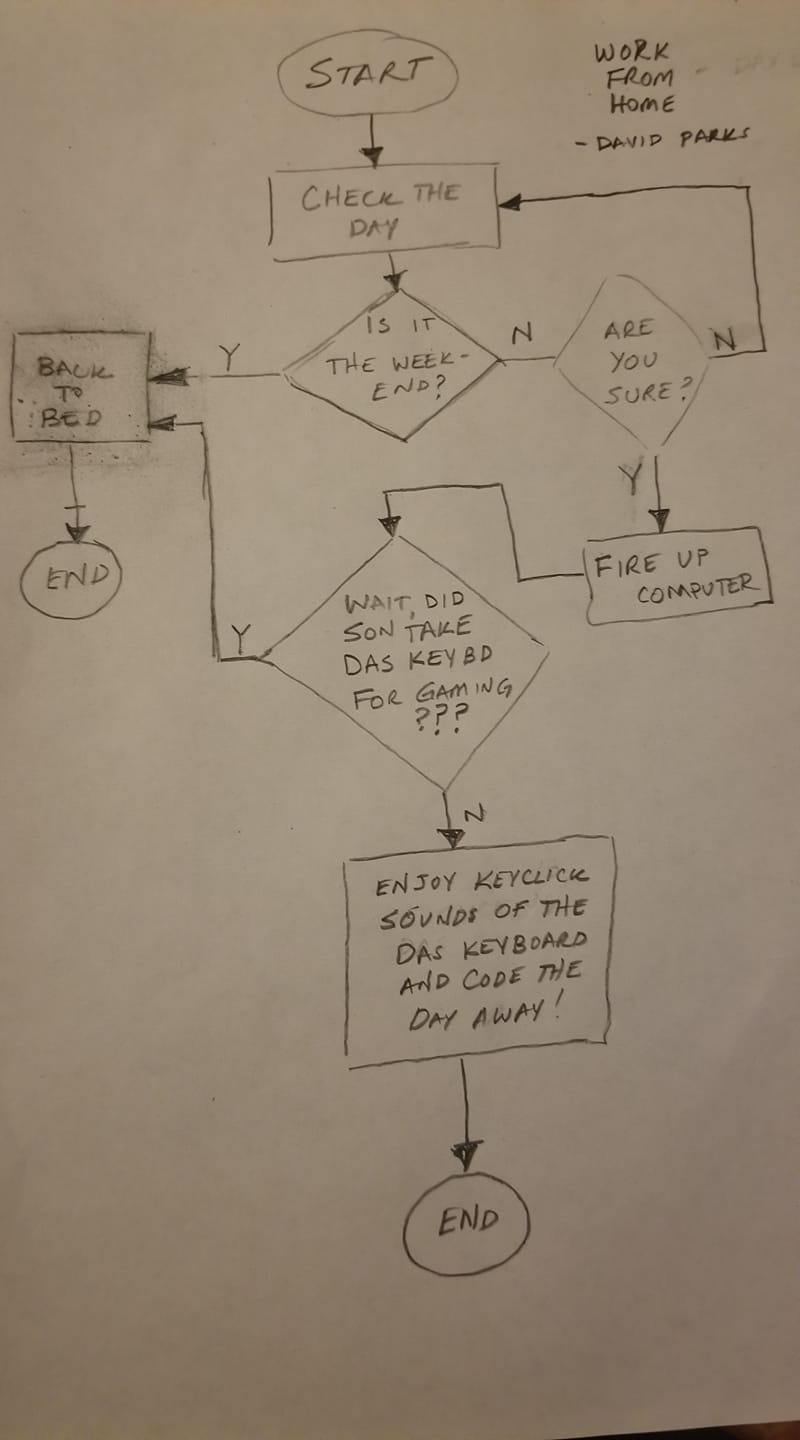 Work from home Flowchart
