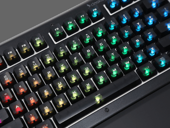 Das Keyboard black professional font RGB keycap set for Gamma Zulu switches