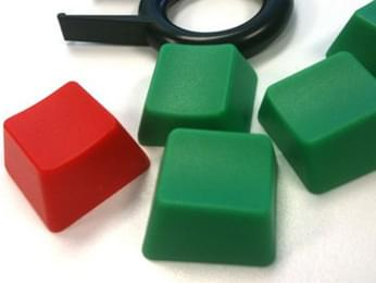 Red and Green Key Caps