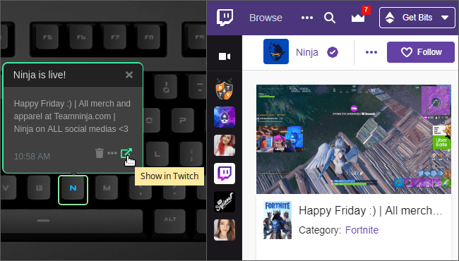Twitch - applet for Das Keyboard