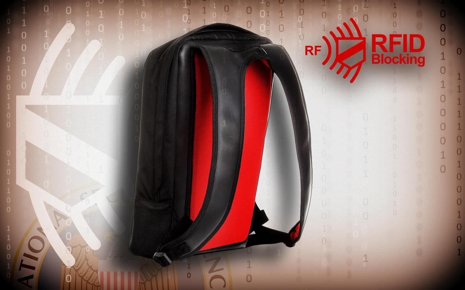 Hackshield Backpack back view