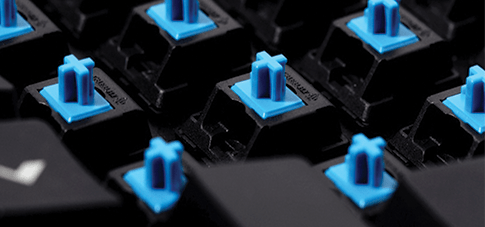 Blue Switches on keyboard