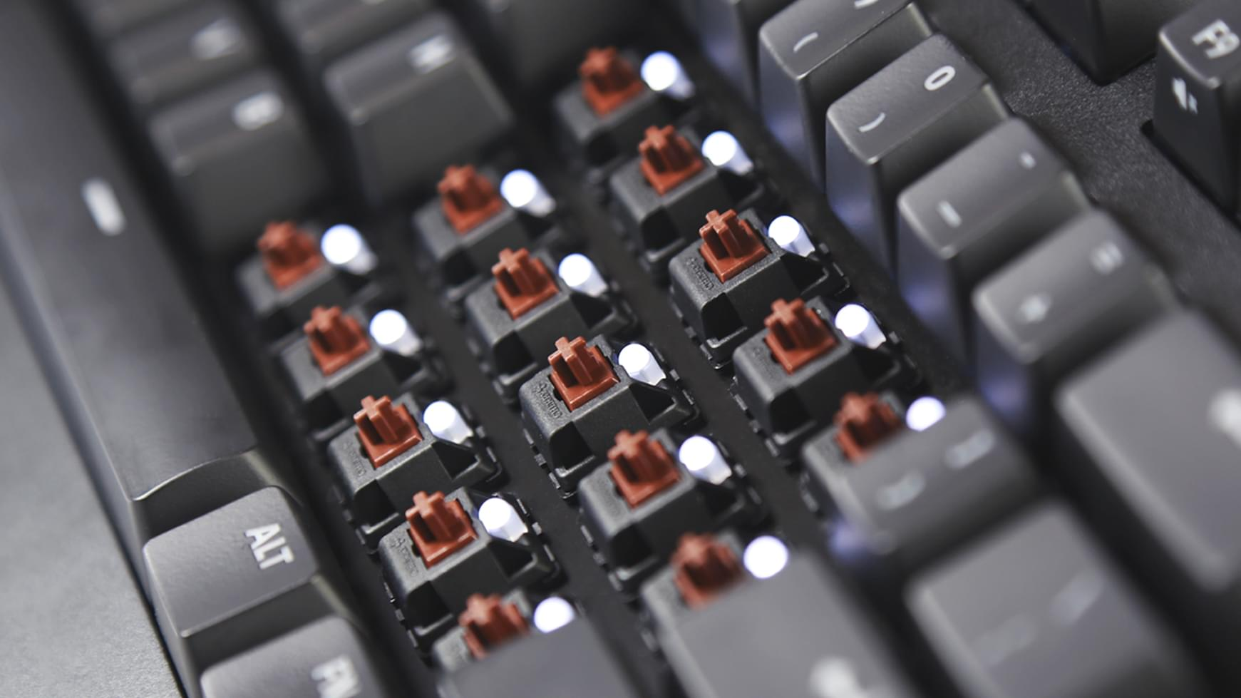 Cherry Brown LED mechanical switches