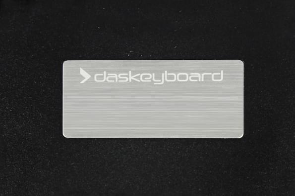 Das Keyboard Prime 13 mechanical keyboard back label