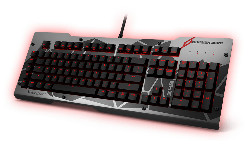 x40 Mechanical Keyboard Inclined view