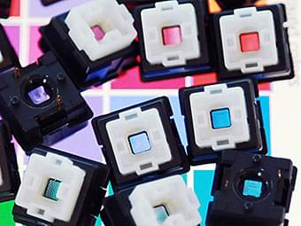 Gamma Zulu colored LED Switches